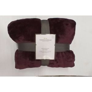 King Size Microplush Blanket Luxury Wine, Red